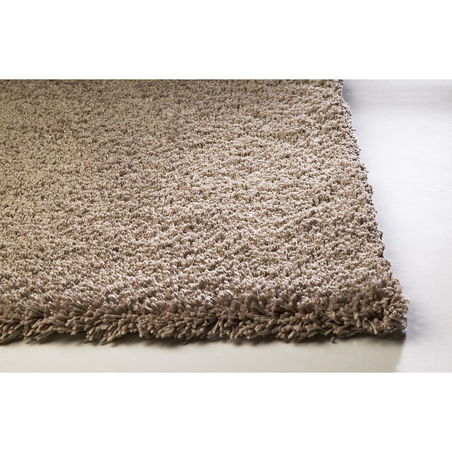 Sofia Brown Rectangular Indoor Shag Area Rug (Common: 8 x 10; Actual: 90-in W x 114-in L)