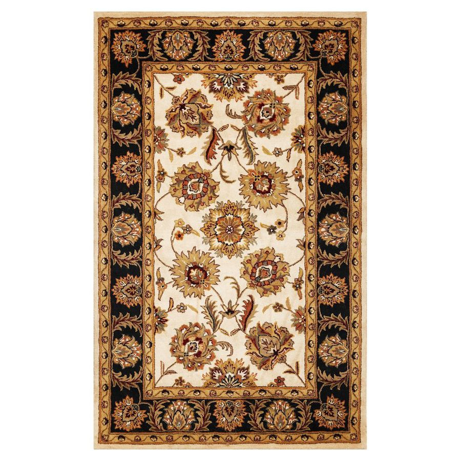 KAS Rugs Classic Simplicity Rectangular Indoor Tufted Throw Rug (Common: 3 x 5; Actual: 39-in W x 63-in L)