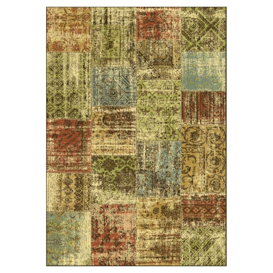 KAS Rugs Todays Treasures Brown Rectangular Indoor Woven Area Rug (Common: 8 x 11; Actual: 94-in W x 134-in L x 0-ft Dia)