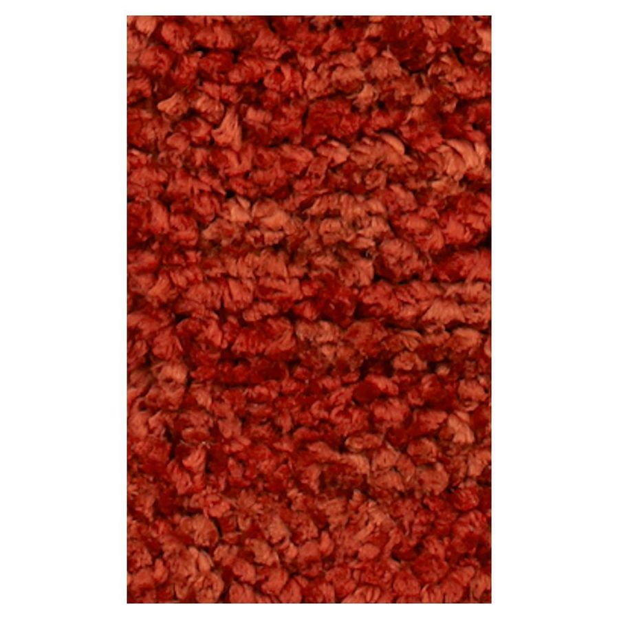KAS Rugs Perfect Shag Red Rectangular Indoor Shag Area Rug (Common: 5 x 7; Actual: 60-in W x 84-in L x 0-ft Dia)