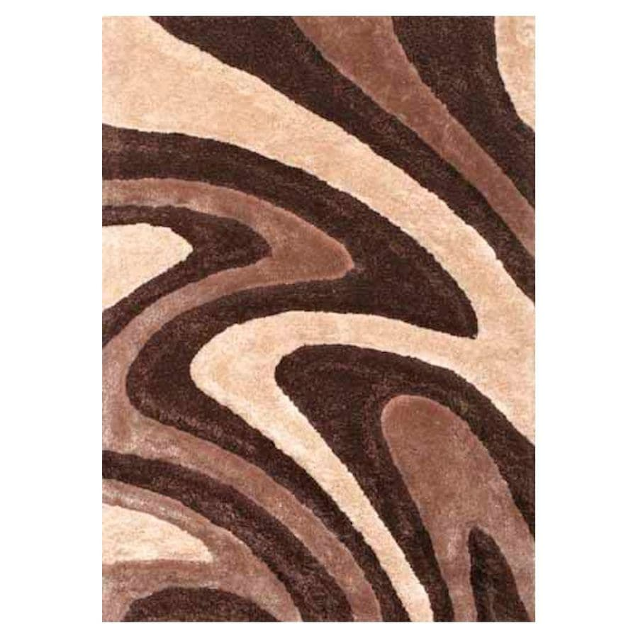 Shop KAS Rugs Plush Shag Round Brown Transitional Tufted