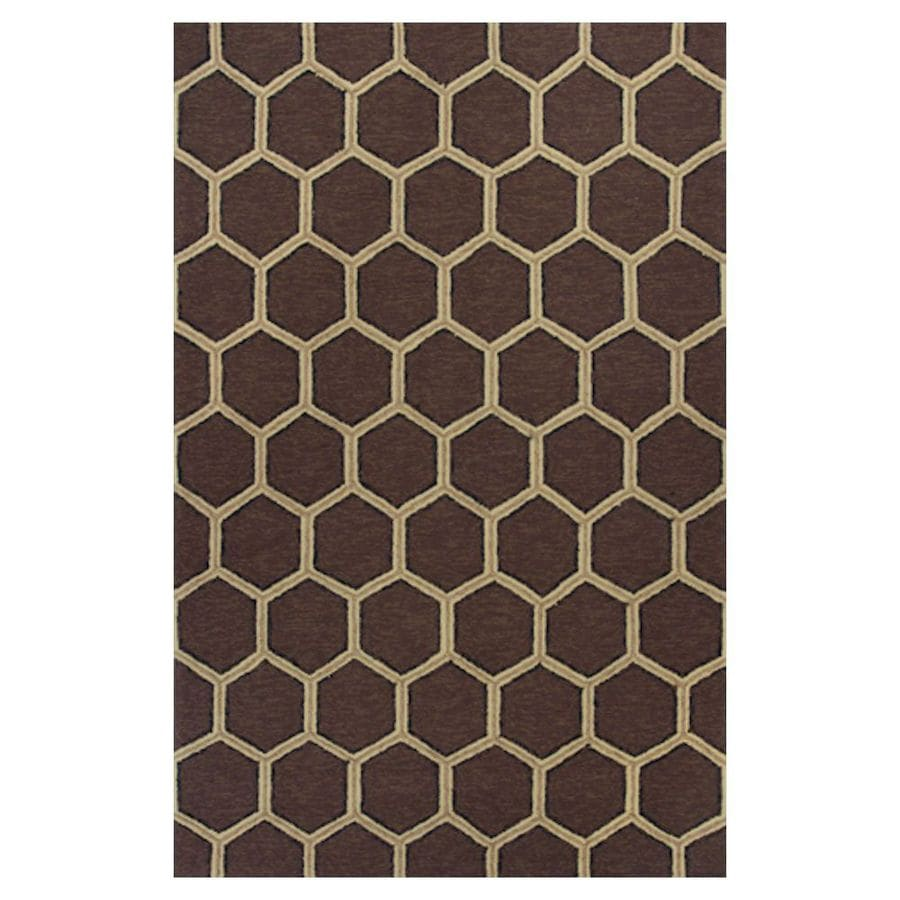 KAS Rugs Casual Living Rectangular Indoor and Outdoor Hand-Hooked Throw Rug (Common: 3 x 5; Actual: 39-in W x 63-in L)