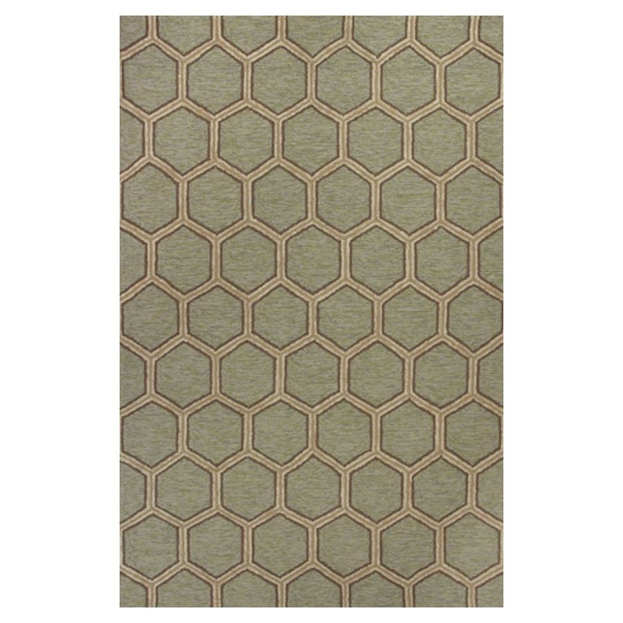 KAS Rugs Casual Living Rectangular Indoor and Outdoor Hand-Hooked Area Rug (Common: 8 x 10; Actual: 90-in W x 114-in L)
