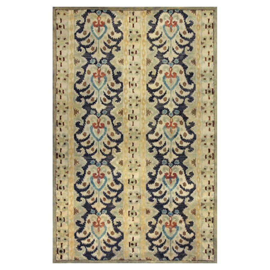 KAS Rugs Ikat Style Rectangular Indoor Tufted Area Rug (Common: 5 x 8; Actual: 60-in W x 96-in L)
