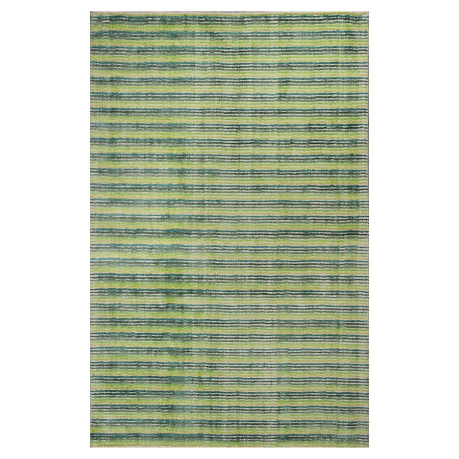 KAS Rugs Shimmering Treasures Green Rectangular Indoor Tufted Area Rug (Common: 5 x 8; Actual: 60-in W x 96-in L x 0-ft Dia)