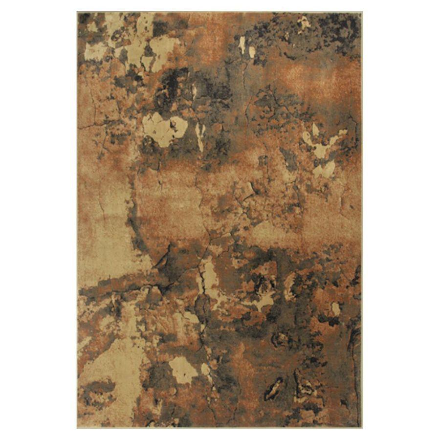 KAS Rugs Todays Treasures Brown Rectangular Indoor Woven Area Rug (Common: 5 x 8; Actual: 63-in W x 91-in L x 0-ft Dia)