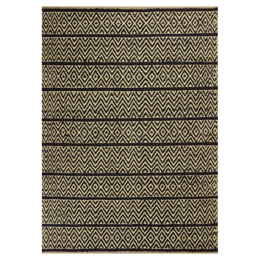 KAS Rugs Rustic Jute Gray Rectangular Indoor Woven Nature Throw Rug (Common: 2 x 4; Actual: 27-in W x 45-in L x 0-ft Dia)