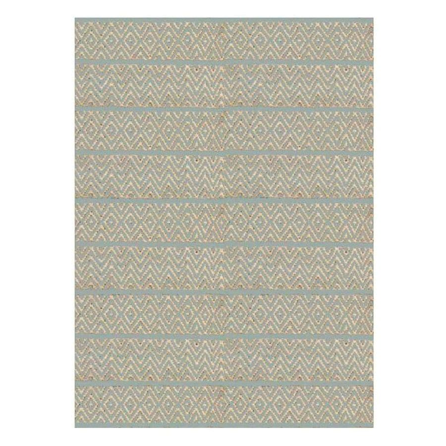 KAS Rugs Rustic Jute Ivory Rectangular Indoor Woven Nature Area Rug (Common: 8 x 10; Actual: 96-in W x 120-in L x 0-ft Dia)