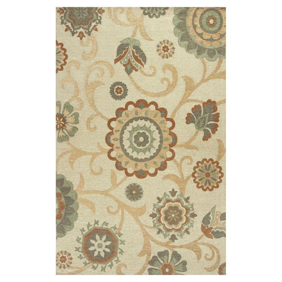 KAS Rugs Elegant Jacquard Rectangular Indoor Woven Throw Rug (Common: 3 x 5; Actual: 39-in W x 63-in L)