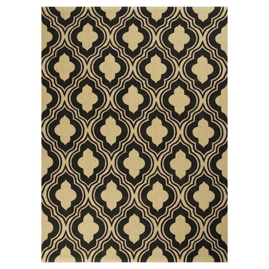 KAS Rugs Natures Best Black Rectangular Indoor Woven Nature Throw Rug (Common: 2 x 4; Actual: 27-in W x 45-in L x 0-ft Dia)