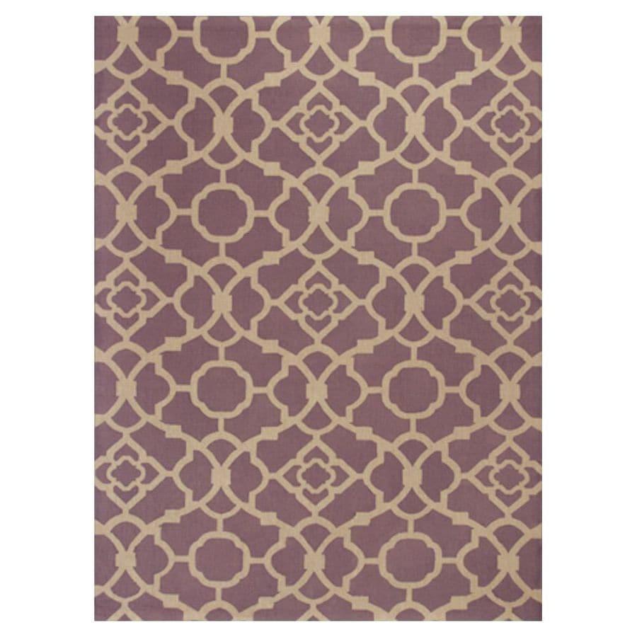 KAS Rugs Natures Best Purple Rectangular Indoor Woven Nature Area Rug (Common: 7 x 10; Actual: 78-in W x 114-in L x 0-ft Dia)