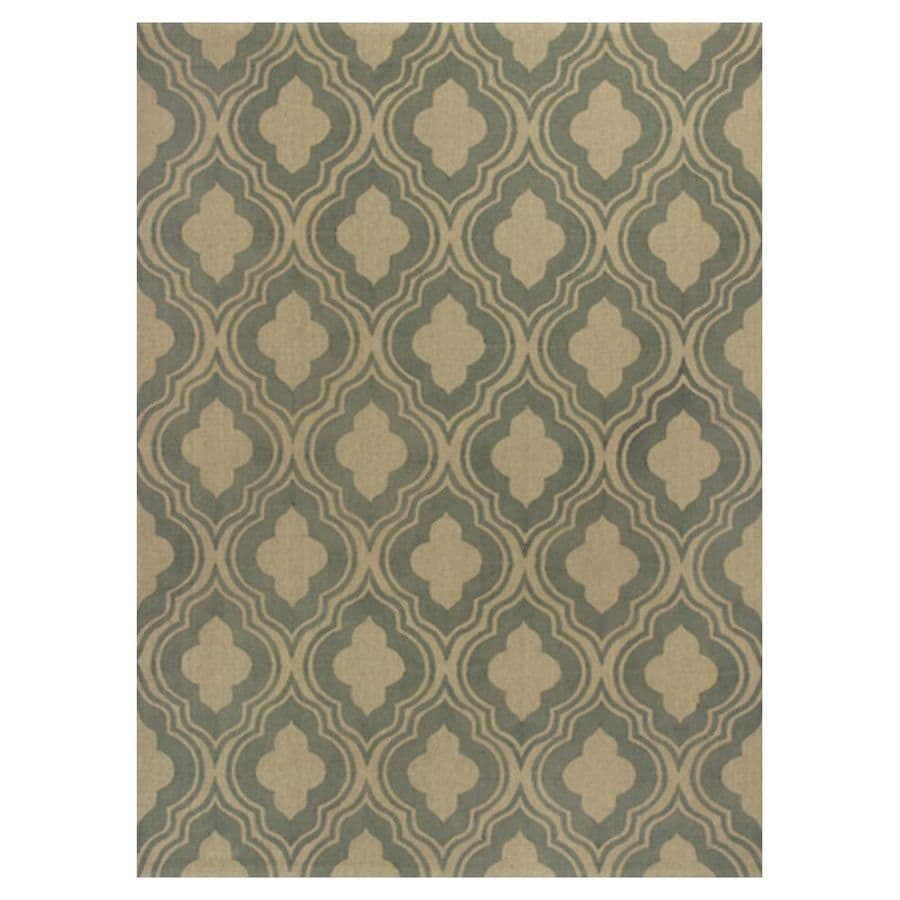 KAS Rugs Natures Best Green Rectangular Indoor Woven Nature Area Rug (Common: 7 x 10; Actual: 78-in W x 114-in L x 0-ft Dia)