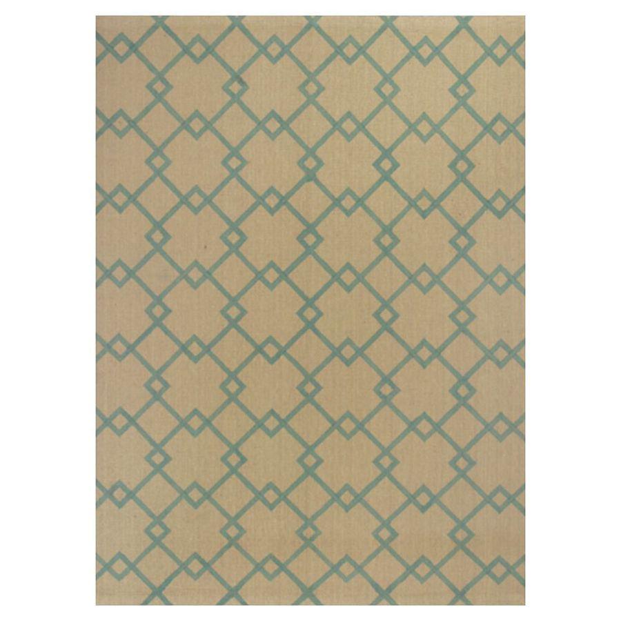 KAS Rugs Natures Best Rectangular Indoor Woven Area Rug (Common: 8 x 10; Actual: 96-in W x 120-in L)