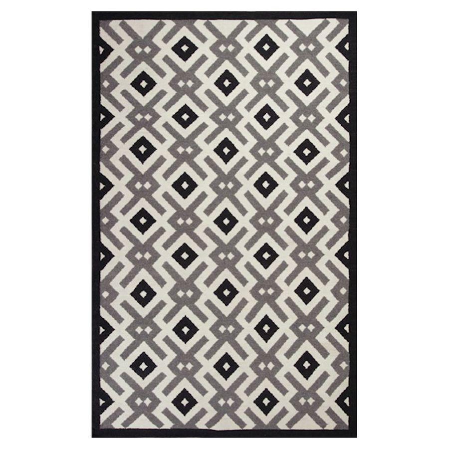 KAS Rugs Panja Weave Rectangular Indoor Woven Throw Rug (Common: 2 x 4; Actual: 27-in W x 45-in L)