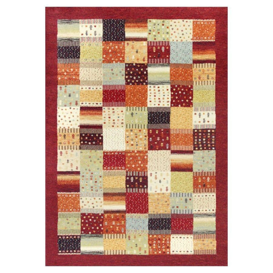 KAS Rugs Gorgeous Transitions Rectangular Indoor Woven Area Rug (Common: 8 x 11; Actual: 94-in W x 134-in L)