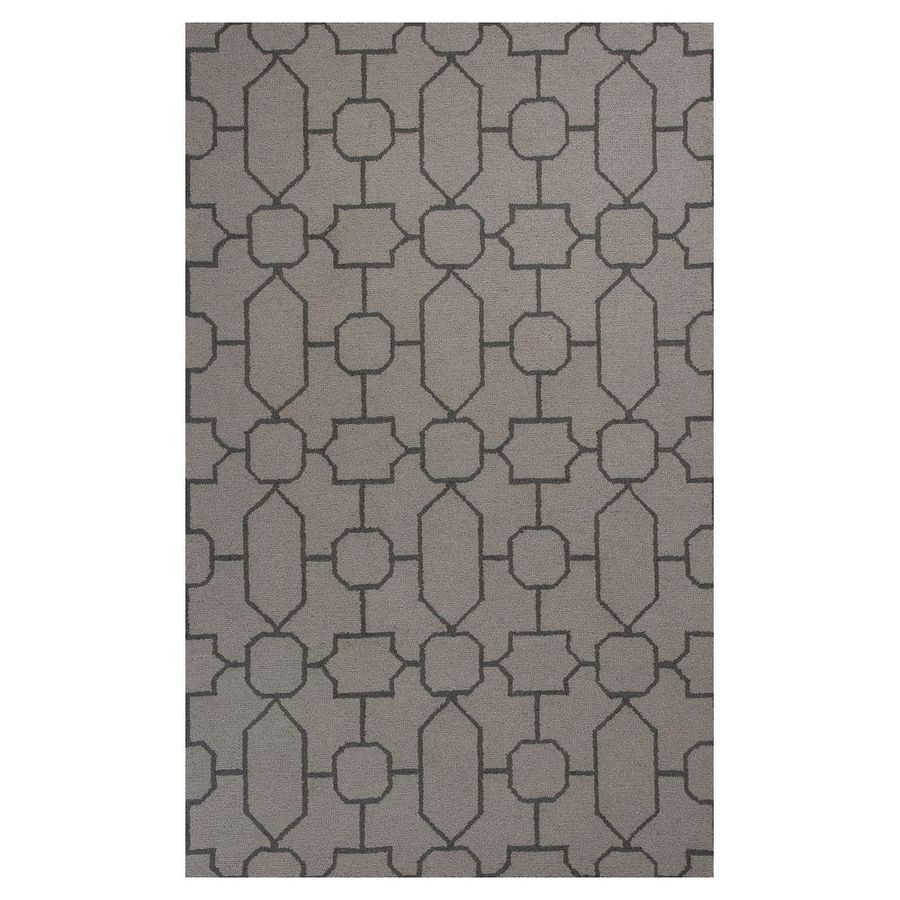 KAS Rugs Everday Brown Rectangular Indoor Hand-Hooked Throw Rug (Common: 2 x 4; Actual: 27-in W x 45-in L x 0-ft Dia)