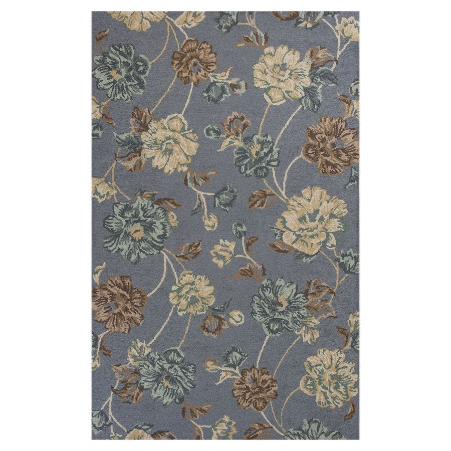 KAS Rugs Everday Rectangular Indoor Hand-Hooked Throw Rug (Common: 3 x 5; Actual: 39-in W x 63-in L)