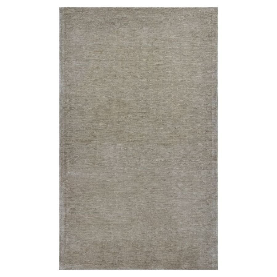 KAS Rugs Tonal Elegance Ivory Rectangular Indoor Tufted Throw Rug (Common: 3 x 5; Actual: 39-in W x 63-in L x 0-ft Dia)