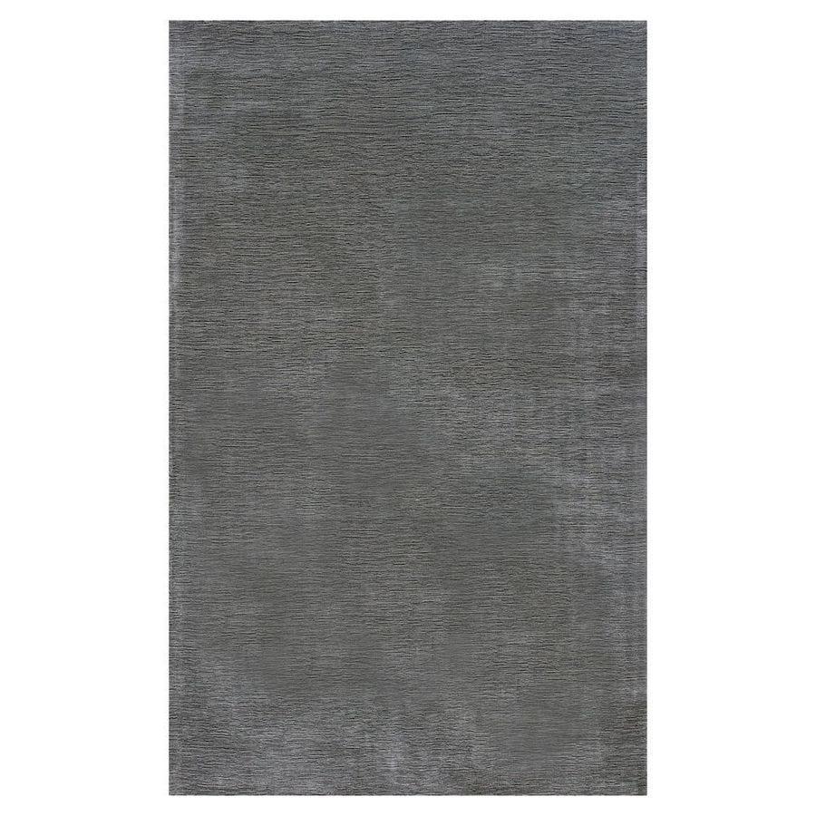 KAS Rugs Tonal Elegance Gray Rectangular Indoor Tufted Throw Rug (Common: 3 x 5; Actual: 39-in W x 63-in L x 0-ft Dia)