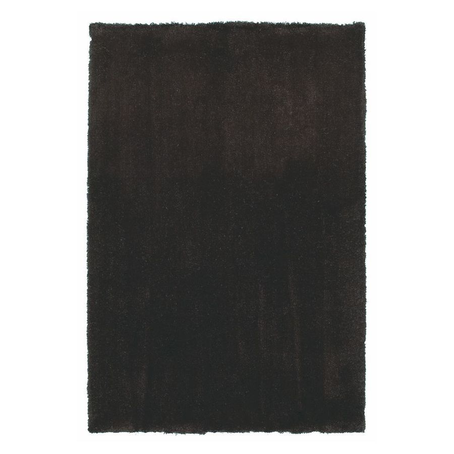 KAS Rugs Sofia Shag Brown Rectangular Indoor Shag Throw Rug (Common: 3 x 5; Actual: 39-in W x 63-in L x 0-ft Dia)