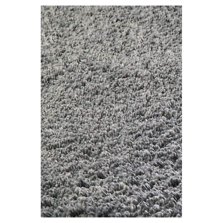 KAS Rugs Sofia Shag Grey Rectangular Indoor Shag Throw Rug (Common: 3 x 5; Actual: 39-in W x 63-in L x 0-ft Dia)