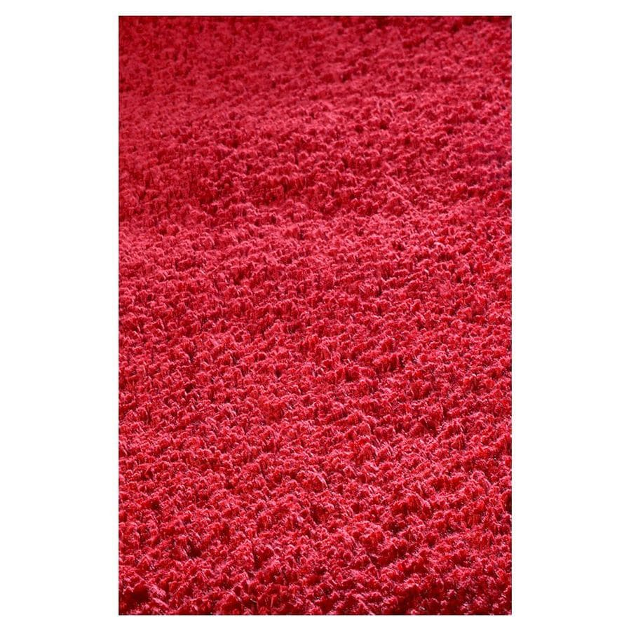 KAS Rugs Sofia Shag Red Rectangular Indoor Shag Area Rug (Common: 8 x 11; Actual: 96-in W x 132-in L x 0-ft Dia)