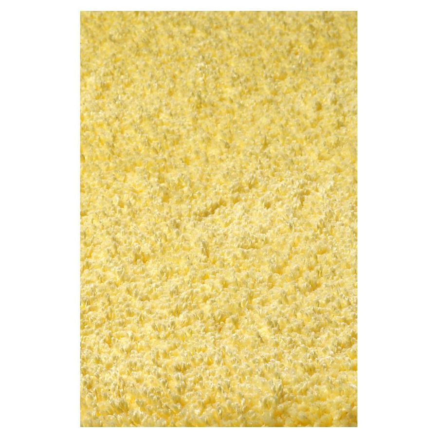 KAS Rugs Sofia Shag Yellow Rectangular Indoor Shag Area Rug (Common: 8 x 11; Actual: 96-in W x 132-in L x 0-ft Dia)