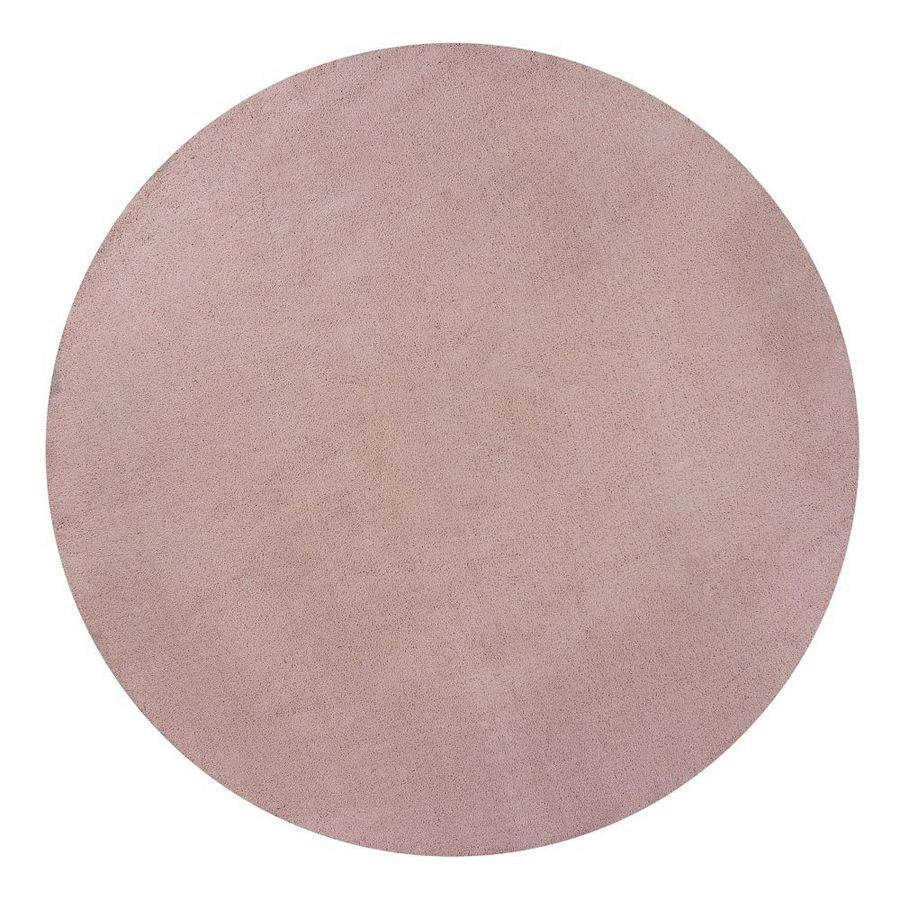 KAS Rugs Sofia Shag Pink Round Indoor Shag Area Rug (Common: 8 x 8; Actual: 96-in W x 96-in L x 8-ft Dia)