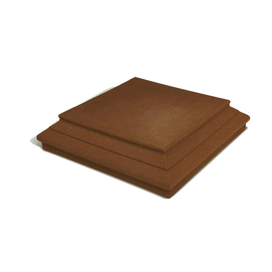 Walnut Composite Deck Post Cap (Fits Common Post Measurement: 6-in x 6-in; Actual: 6-in x 6-in x 1.5-in)