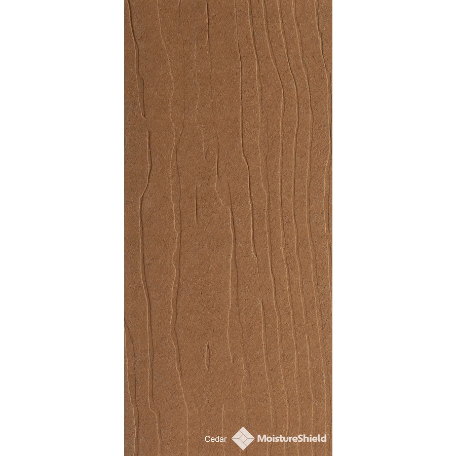 Shop moistureshield vantage rustic cedar composite deck for Composite decking boards