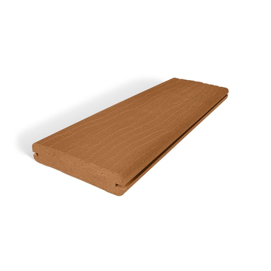 Vantage Rustic Cedar Groove Composite Deck Board (Actual: 1-in x 5.4-in x 20-ft)