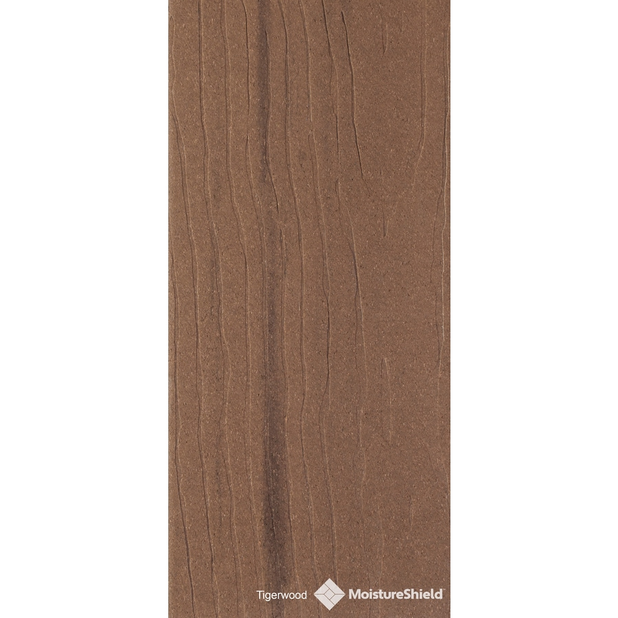 MoistureShield Vantage Tigerwood Composite Deck Board (Actual: 1-in x 5.4-in x 12-ft)