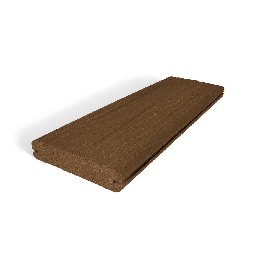 MoistureShield Vantage Walnut Groove Composite Deck Board (Actual: 1-in x 5.4-in x 20-ft)
