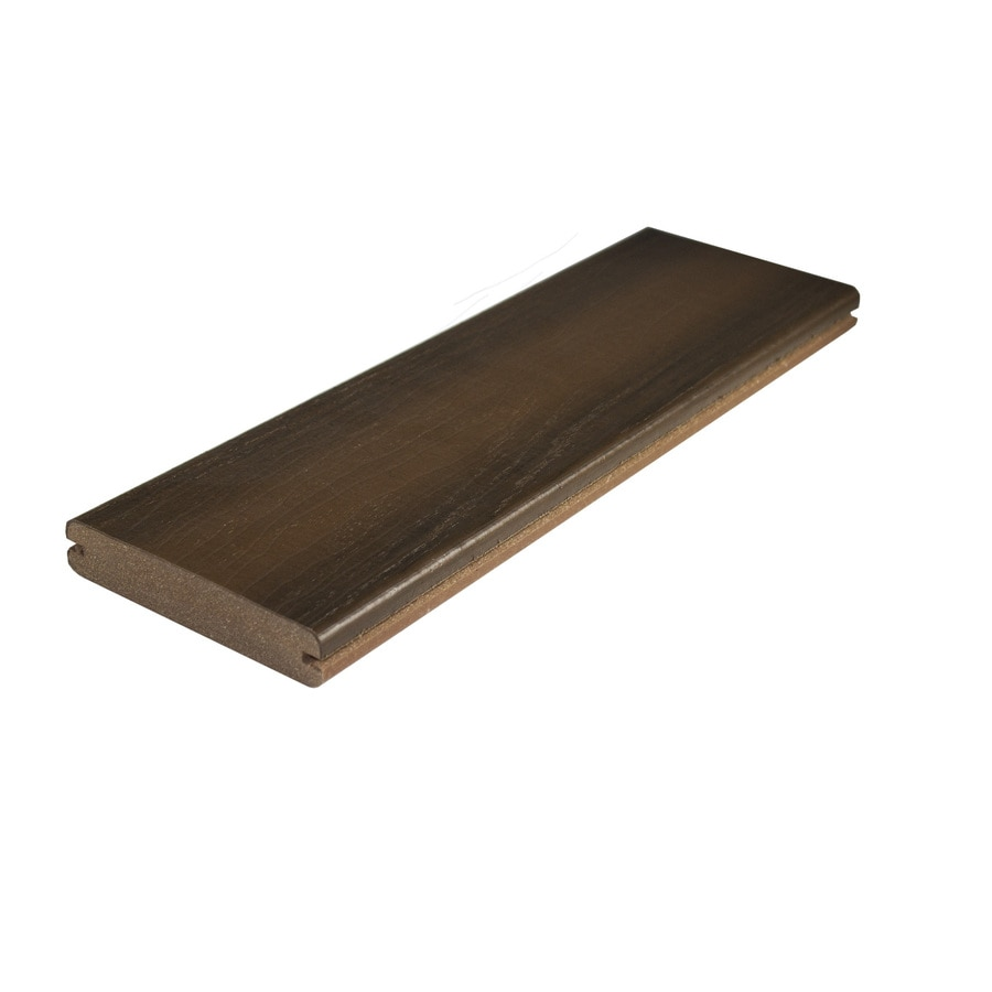 MoistureShield Ipe Groove Composite Deck Board (Actual: 1-in x 5.4-in x 20-ft)