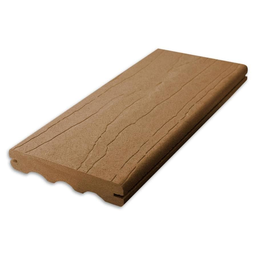 ChoiceDek Foundations Harvest Brown Groove Composite Deck Board (Actual: 1-in x 5.4-in x 20-ft)