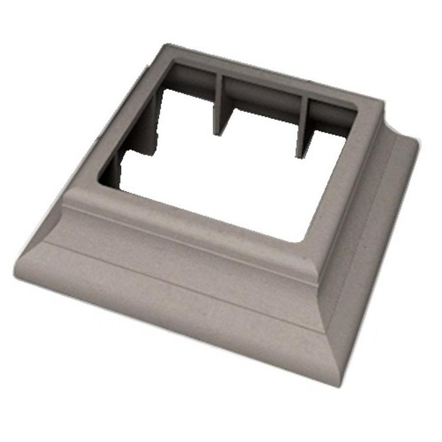 ChoiceDek Foundations Foundations Beach House Gray Composite Deck Post Cap Collar