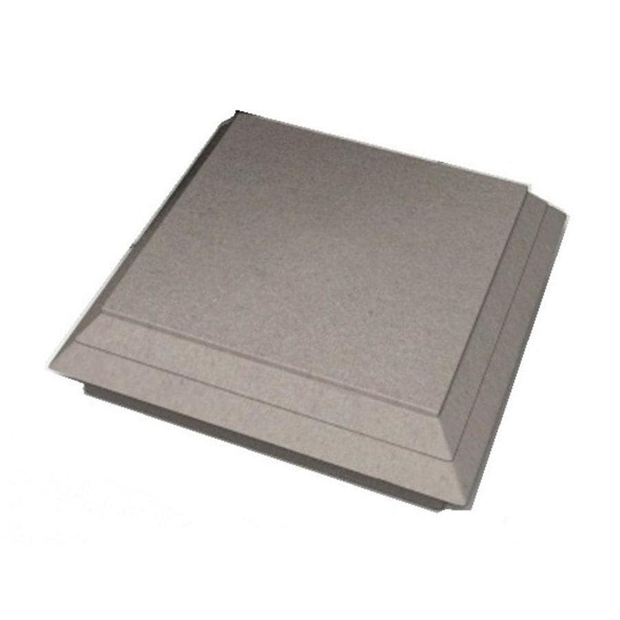 ChoiceDek Foundations Beach House Gray Composite Deck Post Cap (Fits Common Post Measurement: 4-in x 4-in; Actual: 5.67-in x 1.8-in x 5.67-in)