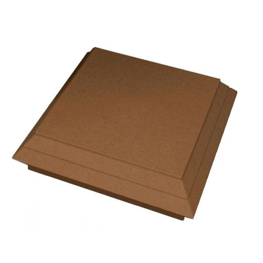 ChoiceDek Foundations Harvest Brown Composite Deck Post Cap (Fits Common Post Measurement: 6-in x 6-in; Actual: 5.67-in x 5.67-in x 1.8-in)