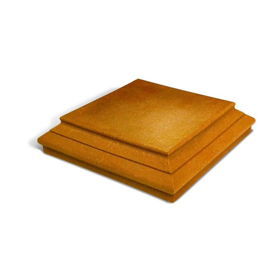 MoistureShield Rustic Cedar Composite Deck Post Cap (Fits Common Post Measurement: 6-in x 6-in; Actual: 6-in x 6-in x 1.5-in)