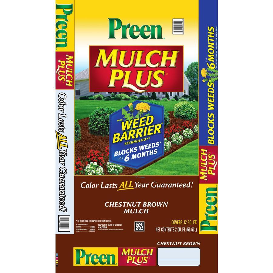 Preen 2 cu ft Brown Shredded Hardwood Mulch