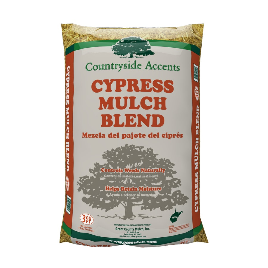 3-cu ft Light Brown/Gold Cypress Blend Mulch