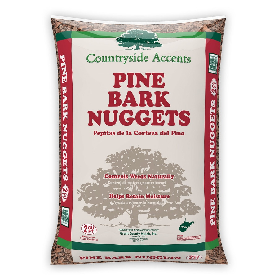 2 Cubic-ft Dark Brown Nuggets Pine Bark Mulch