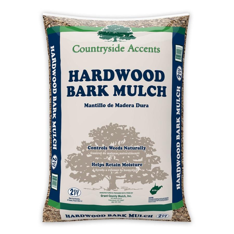 2 Cubic-ft Dark Brown Hardwood Bark Mulch