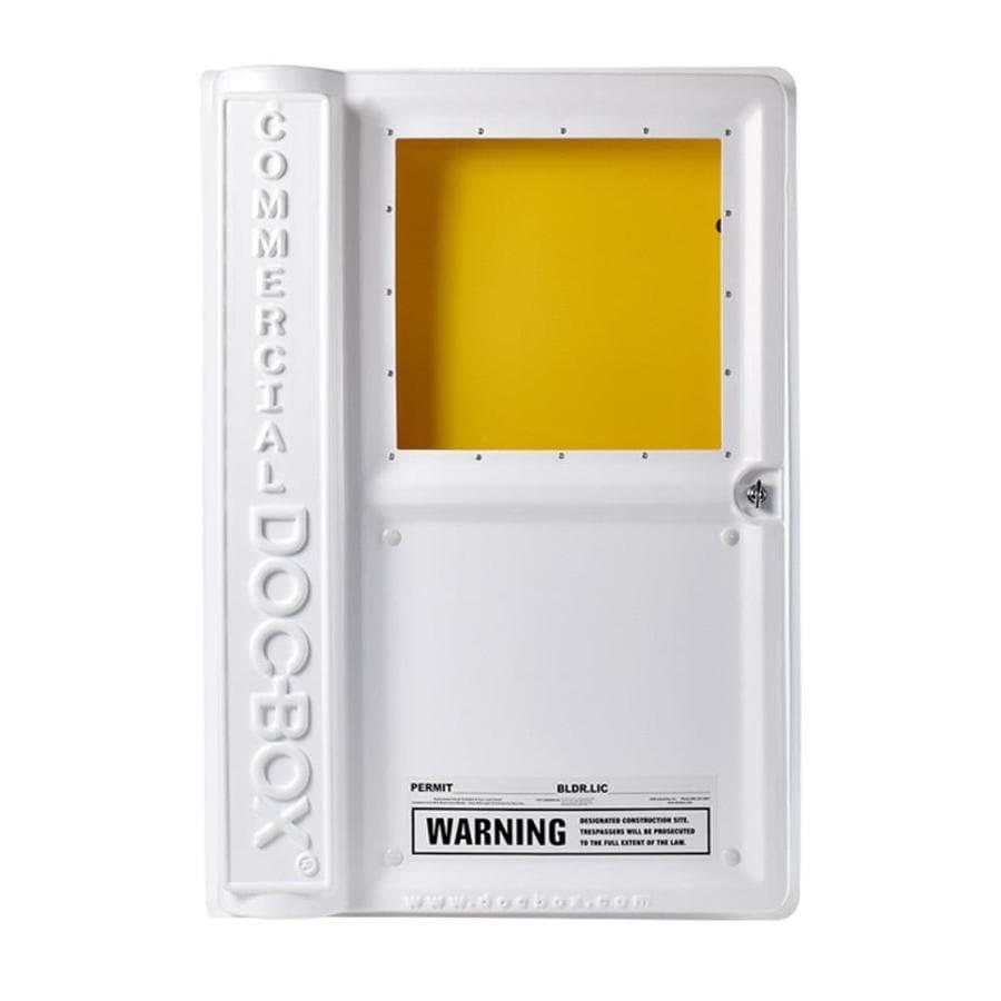 Doc-Box 36-in W x 25-in H x 6.5-in D White Plastic Lockable Permit Box