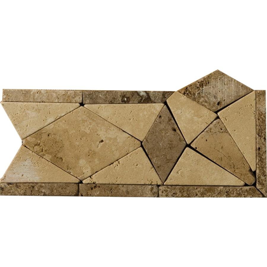 Emser 4-in x 9-in Multicolor Natural Travertine Floor Tile