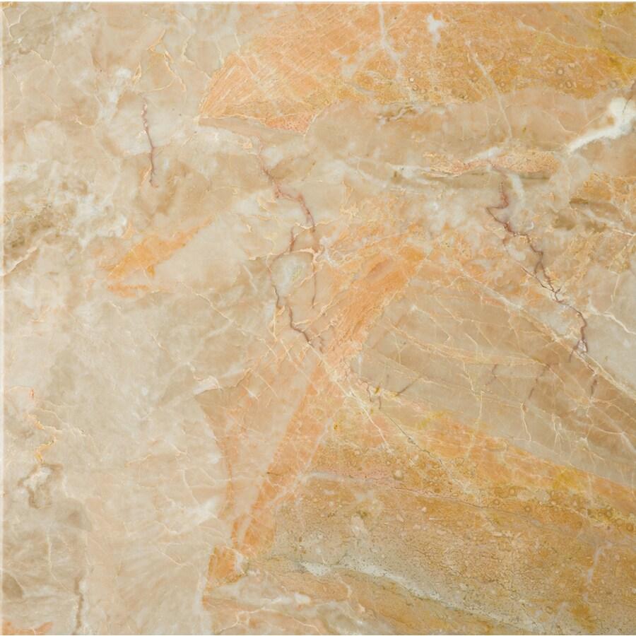 Emser 5-Pack 18-in x 18-in San Juan Gold Natural Marble Floor Tile