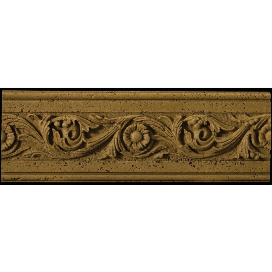 Emser 4-in x 12-in Romansa Tralcio Noce Moulding Natural Travertine Wall Tile