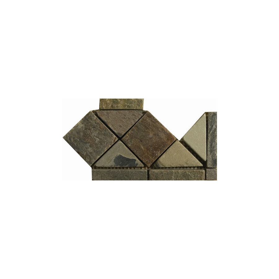 Emser 4-in x 6-in Multicolor Natural Slate Floor Tile