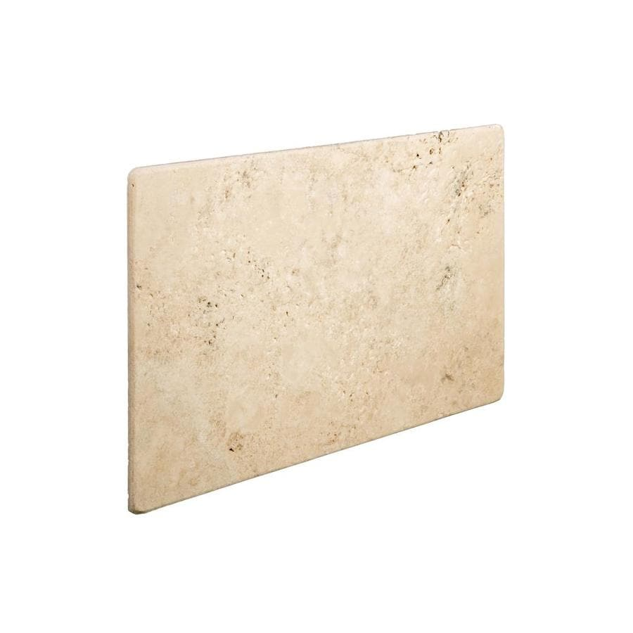 Emser 16-in x 24-in Ancient Unfilled and Tumbled Beige Natural Travertine Floor Tile
