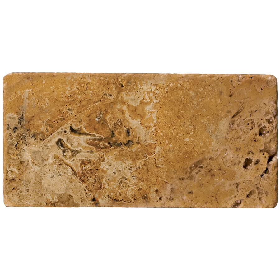 Emser 16-in x 24-in Ancient Unfilled and Tumbled Oro Natural Travertine Floor Tile